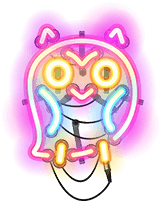 Neon Owl - Step 5 in The Bookfest's scavenger hunt