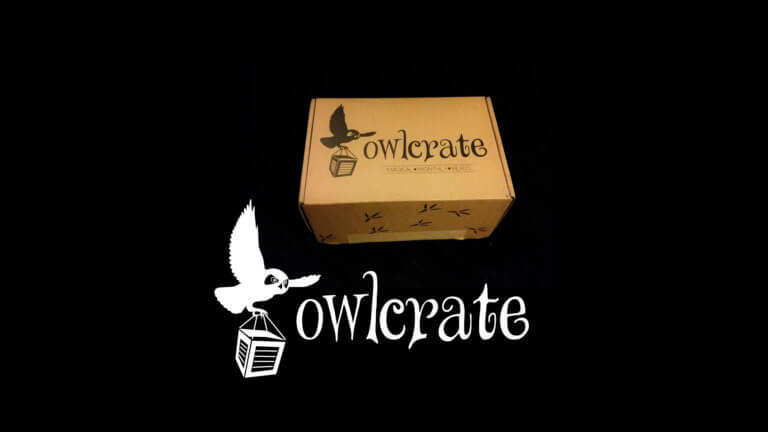 Prize box with Owlcrate Giveaway logo